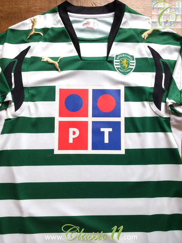 2007/08 Sporting CP Home Shirt (S)