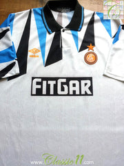 1991/92 Internazionale Away Football Shirt (XL)