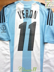 2002/03 Argentina Home World Cup Shirt Verón #11 (L)