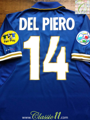 1996/97 Italy Home European Championship Shirt Del Piero #14 (XL)
