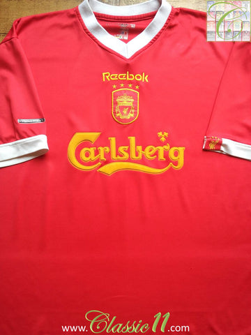 2001/02 Liverpool Home European Football Shirt (XL)