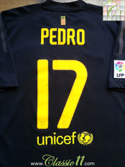 2011/12 Barcelona Away La Liga Football Shirt Pedro #17 (XL)