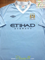 2011/12 Man City Home Football Shirt (XL)