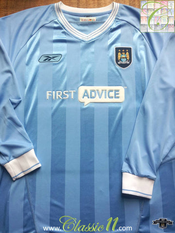 2003/04 Man City Home Shirt (L)