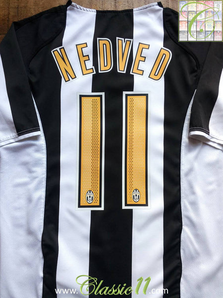 detailed look 63eca 2a2ea 2004/05 Juventus Home Classic Football Shirt Nedved #11 ...