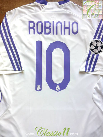 2007/08 Real Madrid Home European Shirt Robinho #10 (XL)