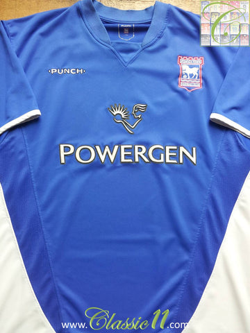 2003/04 Ipswich Town Home Football Shirt (L)