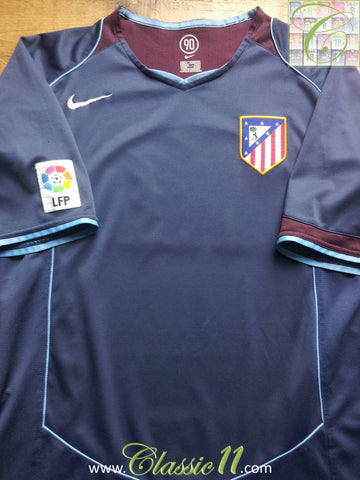 2004/05 Atlético Madrid Away La Liga Football Shirt (L)