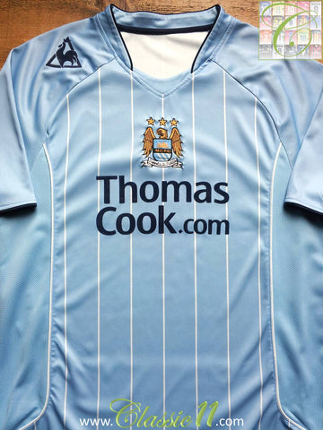 2007/08 Man City Home Football Shirt (L)
