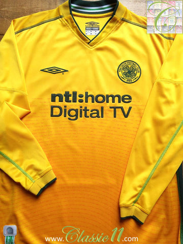 2002/03 Celtic Away Football Shirt. (L)