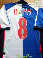 2002/03 Blackburn Rovers Home Premier League Shirt Dunn #8 (S)