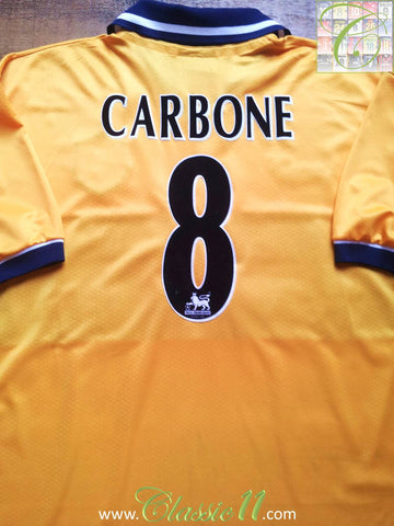 1998/99 Sheffield Wednesday Away Premier League Shirt Carbone #8 (L)