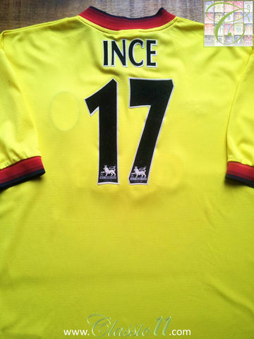 1997/98 Liverpool Away Premier League Football Shirt Ince #17 (XL)