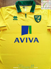2012/13 Norwich City Home Football Shirt (M)