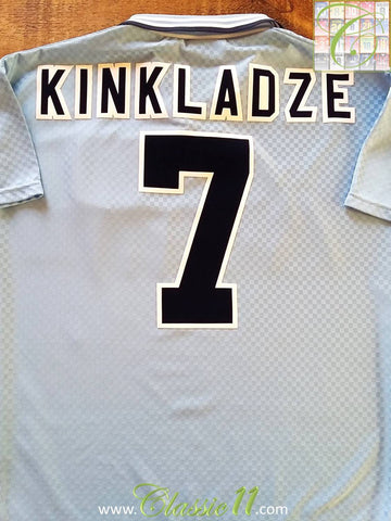 1995/96 Man City Home Football Shirt Kinkladze #7 (M)