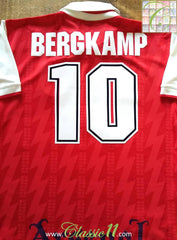 1995/96 Arsenal Home Football Shirt Bergkamp (L)