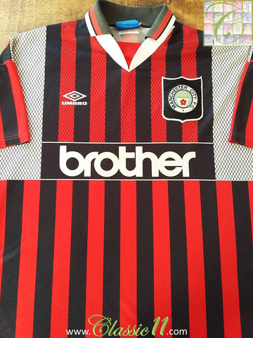 1994/95 Man City Away Football Shirt (XL)