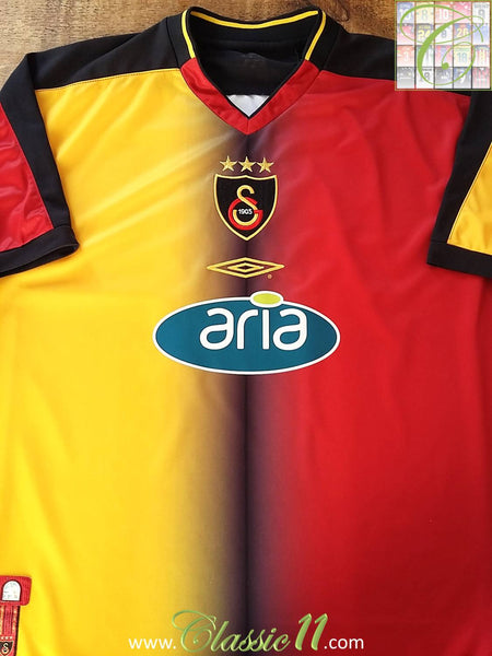 check out 23aa0 1e7f2 2001/02 Galatasaray Home Classic Football Shirt / Old Soccer ...