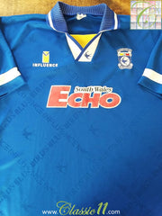 1995/96 Cardiff City Home Football Shirt (L)