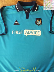 2002/03 Man City Home Football Shirt (XL)