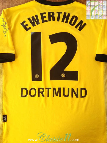 2003/04 Borussia Dortmund Home Football Shirt Ewerthon #12 (M)