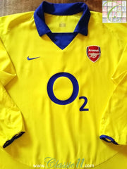 2003/04 Arsenal Away Football Shirt (XL).