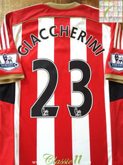 2014/15 Sunderland Home Premier League Football Shirt Giaccherini #23 (M)