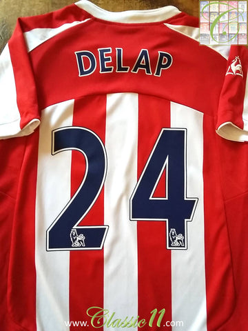 2009/10 Stoke City Home Premier League Football Shirt Delap #24