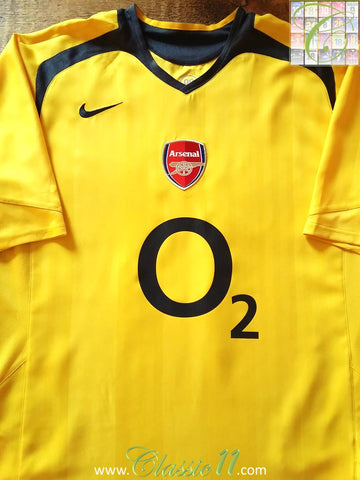 2005/06 Arsenal Away Football Shirt (L)