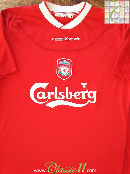 35dd53a744f 2002 03 Liverpool Home Football Shirt   Soccer Jersey