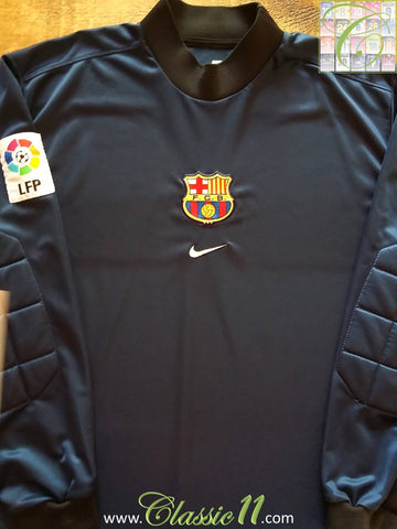 1998/99 Barcelona La Liga Goalkeeper Football Shirt (XL)
