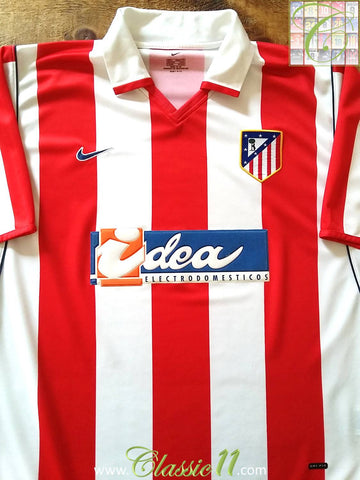 2001/02 Atlético Madrid Home Football Shirt (XL)
