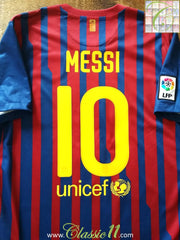 2011/12 Barcelona Home La Liga Football Shirt Messi #10 (S)