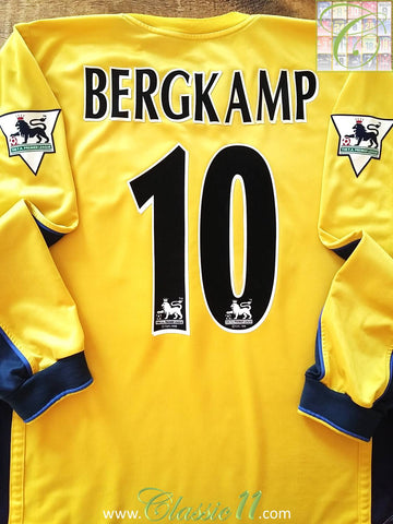 1999/00 Arsenal Away Premier League Football Shirt Bergkamp #10 (XL)