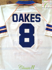 1993/94 Luton Town Home Football Shirt Oakes #8 (L)