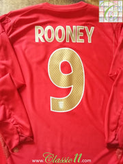 2006/07 England Away Football Shirt Rooney #9. (XL)