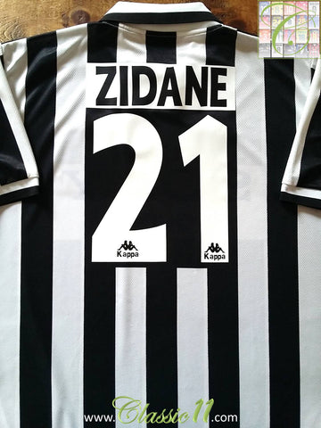 1996/97 Juventus Home Football Shirt Zidane (XL)