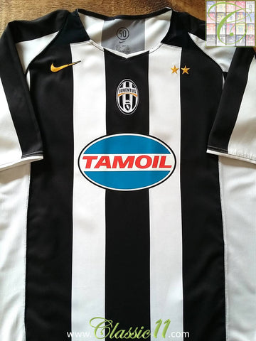 2004/05 Juventus Home European Football Shirt (M)