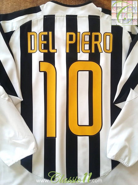 f0bf86bc607 2003 04 Juventus Home Serie A Football Shirt Del Piero  10 - Jersey ...