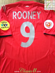 2004 England Away European Championship Shirt Rooney #9 (XL)