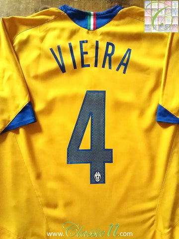 2005/06 Juventus 3rd Football Shirt Vieira #4 (L)