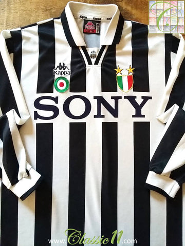 1995/96 Juventus Home Serie A Football Shirt. (XL)