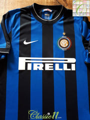 2009/10 Internazionale Home Football Shirt (S)