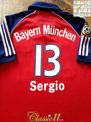 1999/00 Bayern Munich Home Bundesliga Football Shirt Sergio #13 (Y)