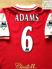 1997/98 Arsenal Home Premier League Football Shirt Adams #6 (XL)