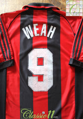 1998/99 AC Milan Home Football Shirt Weah #9 (M)