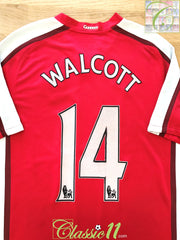 2008/09 Arsenal Home Premier League Football Shirt Walcott #14 (L)