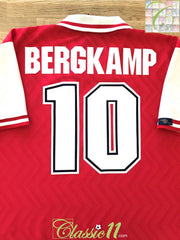 1996/97 Arsenal Home Football Shirt Bergkamp #10 (XL)