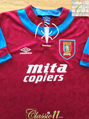 1992/93 Aston Villa Home Football Shirt (L)