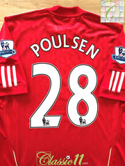 2010/11 Liverpool Home Premier League Football Shirt Poulsen #28 (M)